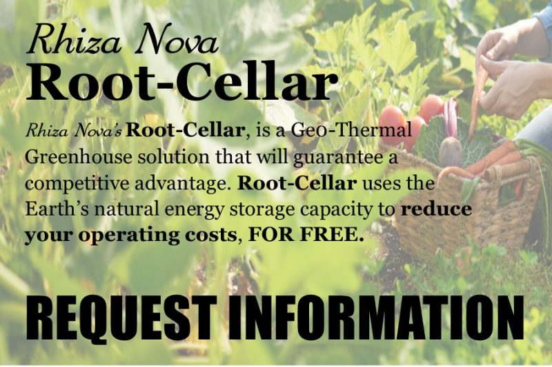 Rhiza Nova Root-Cellar Geothermal Greenhouse